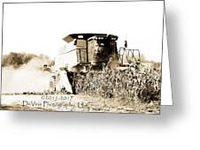 Monster Tractor Greeting Card