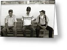 Montana Bench Boys Part II Greeting Card