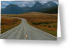 Montana Highway Greeting Card