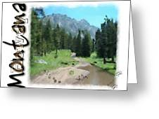 Montana Howdy Greeting Card
