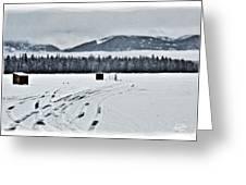 Montana Ice Fishing Greeting Card