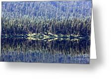 Montana Lake Reflection Greeting Card