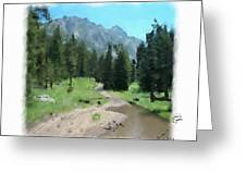 Montana Mudhole Greeting Card