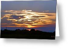 Montana Sunset Greeting Card