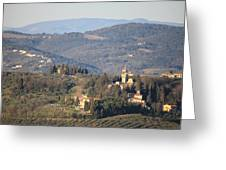 Montegufoni Castle Greeting Card