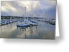 Monterey Harbor Marina - California Greeting Card