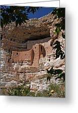 Montezuma Castle Cliff Dwellings In The Verde Valley Of Arizona Greeting Card