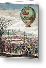 Montgolfier Balloon Le Flesselles Greeting Card