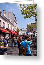 Montmartre Artist Colony Greeting Card