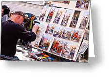 Montmartre Street Artists Greeting Card