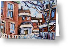 Montreal Scene 03 By Prankearts Greeting Card