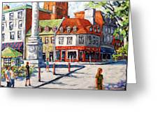 Montreal Street Urban Scene By Prankearts Greeting Card