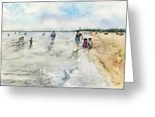Montrose Beach Greeting Card