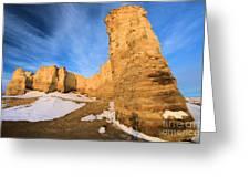 Monument Rocks In Kansas Greeting Card
