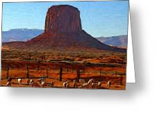 Monument Valley 2 Pastel Greeting Card