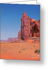 Monument Valley Elrphant Butte And Hogan Greeting Card