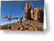 Monument Valley Lone Tree Greeting Card