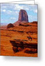 Monument Valley Pastel Greeting Card