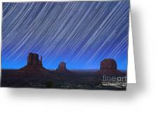 Monument Valley Star Trails 1 Greeting Card