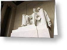 Monumental Statue Of Abraham Lincoln Greeting Card