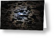 Moon And Clouds Greeting Card