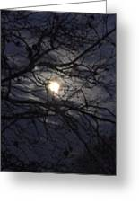 Moon Clouds Greeting Card