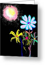 Moon Garden Greeting Card
