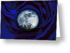 Moon Has Rose Greeting Card