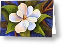 Moon Light Magnolia Greeting Card by Elaine Hodges