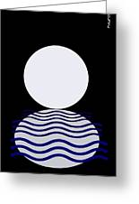 Moon On Water Greeting Card