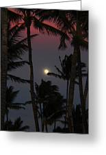 Moon Over Hawaii Greeting Card
