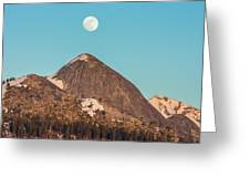 Moon Over Sierra Peak Greeting Card