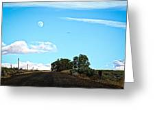 Moon Road Greeting Card
