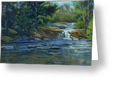 Moonrise On The River Greeting Card