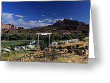 Moonrise Over Grand View Ranch Greeting Card