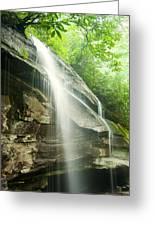 Moore Cove Falls Greeting Card