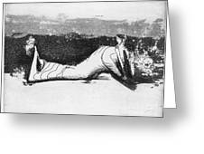 Moore: Reclining Figure Greeting Card