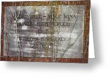 Mooresville - Belle Mina Junior High School 1967 Greeting Card by Kathy Clark