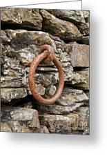 Mooring Ring And Rust Greeting Card
