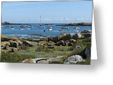 Moorings Iles Chausey Greeting Card