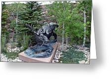 Moose - Metal Statue Greeting Card