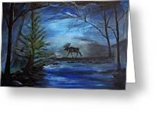 Moose Pond Greeting Card