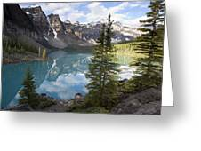Moraine Lake In The Valley Of The Ten Greeting Card