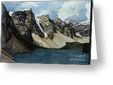 Moraine Lake Greeting Card by Scott Nelson