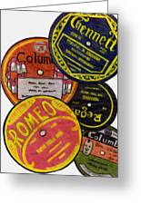More Old Record Labels  Greeting Card