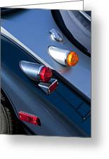 Morgan Plus 8 Tail Lights Greeting Card