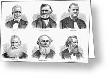 Mormon Apostles, 1877 Greeting Card