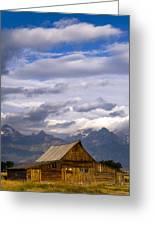 Mormon Barn Morning Greeting Card by Joseph Rossbach