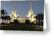 Mormon Cathederal San Diego 2 Greeting Card