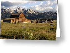 Mormon Row Barn Greeting Card
